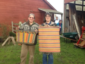 Katherine and Alex, both master weavers took the challenge.